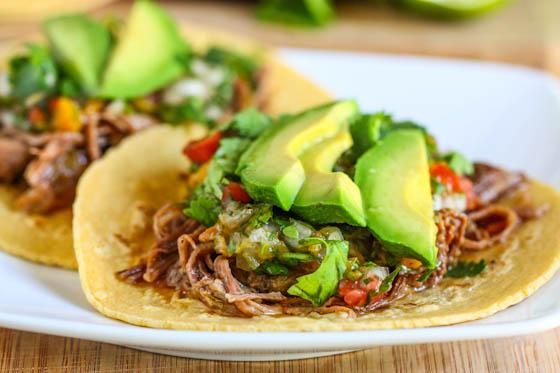 Crock Pot Beef Carnitas Tacos - Eat, Live, Run