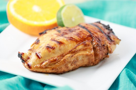 Pinot Grigio Chicken with Honey Citrus Glaze, see more at http://homemaderecipes.com/quick-easy-meals/16-easy-chicken-breast-recipes/